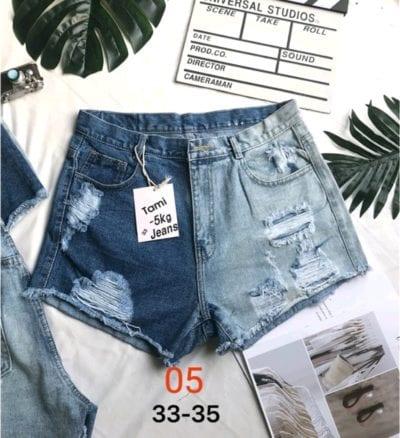 Quần short jean nữ rách size đại – giá sỉ 80,000đ /ri – dây.