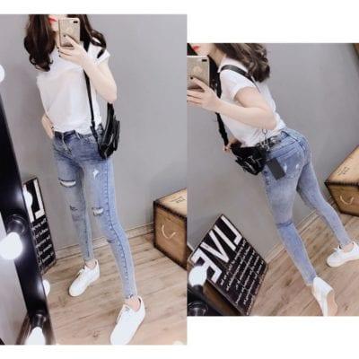 Quần jean dài nữ – giá sỉ 95,000 – 105,000đ /cái.