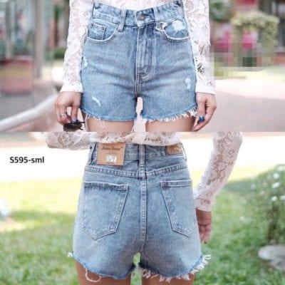 Quần Short jeans rách nhẹ – giá sỉ theo số lượng: 58,000 – 65,000đ /cái.