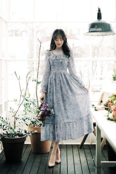 Đầm maxi dự tiệc cưới vô cùng đáng yêu