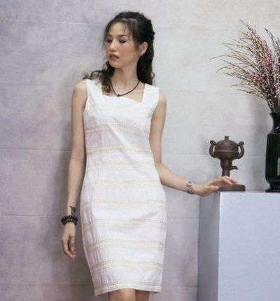 Đầm kate Hàn Quốc phối ren cao cấp – giá sỉ 225,000đ /cái.