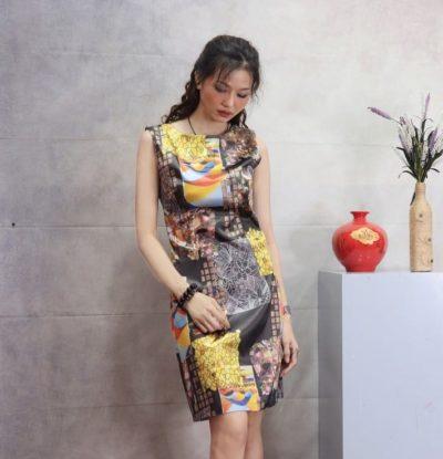 Đầm lụa cao cấp mềm mát – giá sỉ 158,000đ /cái.