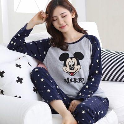 Đồ bộ ngủ mặc nhà gam màu độc đáo in hình đáng yêu – giá sỉ 89,000đ /bộ.