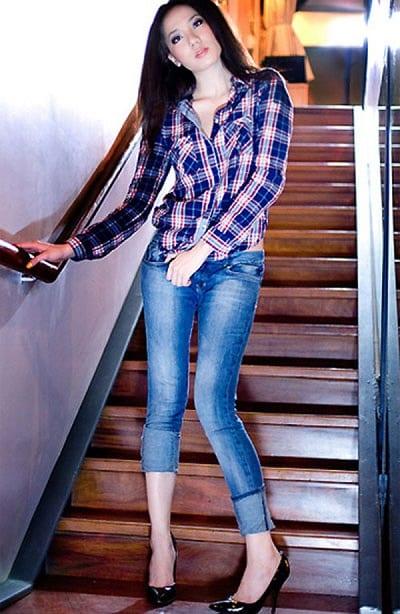 Mẹo mặc quần jean cho dáng người đầy đặn