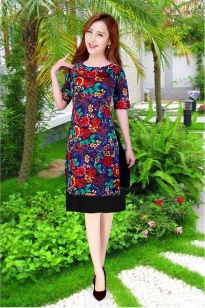 Áo dài cách tân gấm kèm váy – giá sỉ theo số lượng 165,000 – 195,000đ /cái.
