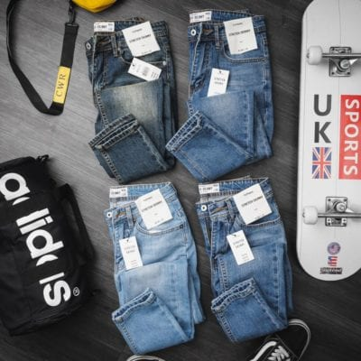 Quần jeans nam trơn – giá sỉ 225,000đ /ri – dây.