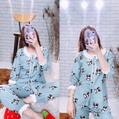 Pijama kate tiểu thư –giá sỉ theo số lượng: 65,000 – 80,000đ /cái.