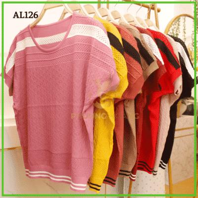 Áo len trung niên tay cánh dơi viền sọc – giá sỉ 135,000 – 155,000đ /cái.
