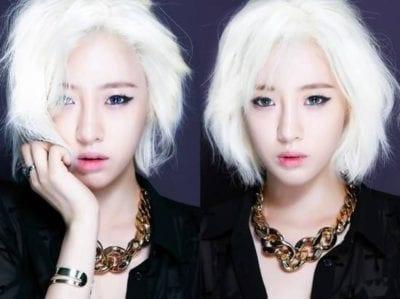 Tóc màu bạch kim cho da tối màu
