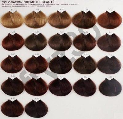 Bảng màu nhuộm tóc đầy đủ, đang là xu hướng hiện nay