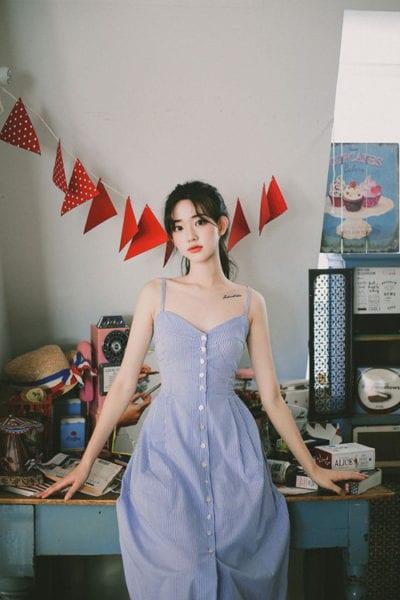 Bên cạnh các kiểu váy suông, đầm hạ eo là thiết kế váy mang hơi hướng cổ điển với phần thân trên ôm khít eo tôn nét sexy