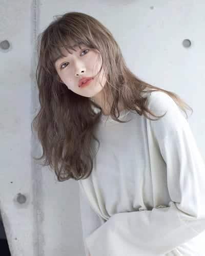 Tóc dài Hàn Quốc màu trà sữa