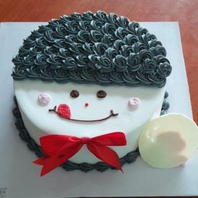 Bánh kem mặt cười tóc xoăn - Ảnh 2