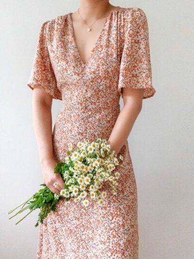 Váy hoa tay lở - vừa duyên dáng, che khuyết điểm lại hợp với mùa hè