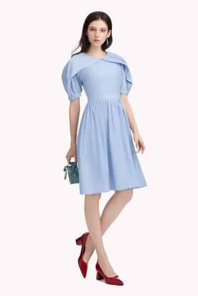 Kiểu váy xòe xanh mint ngọt ngào
