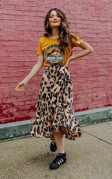 Váy midi đắp chéo xinh xắn trendy, phù hợp với mọi dáng người