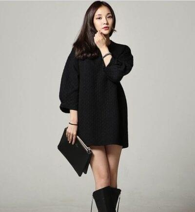 Váy len đen + Boots