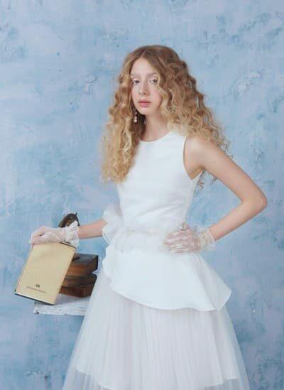 Váy xòe phối ren lưới quyến rũ