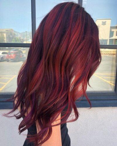 Màu tóc phúc bồn tử
