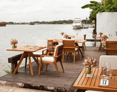 Thưởng thức món ăn ngon, ngắm cảnh đẹp tại nhà hàng ven sông