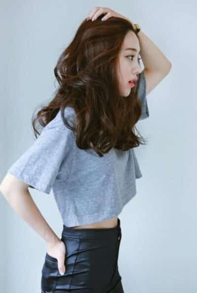 Tóc dài xoăn wavy