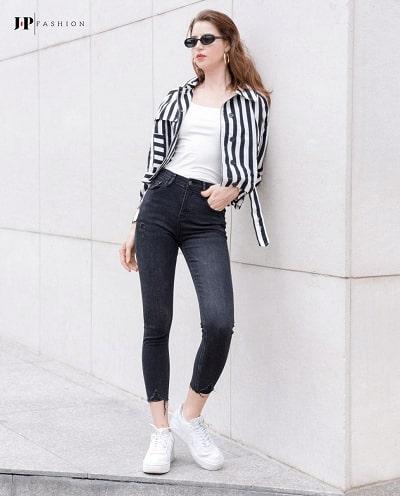 Làn gió thời trang street style của chiếc quần skinny