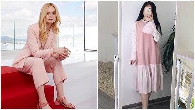 Trang phục màu hồng phấn