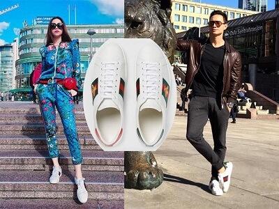Công thức phối áo hoodie với giày Gucci Ong