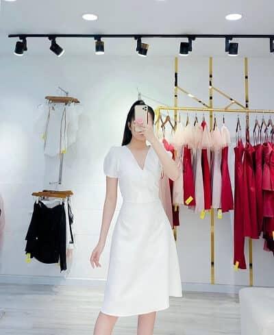 Shop Đầm dự tiệc tông trắng nữ tính của Céci