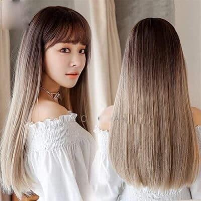 Tóc giả dài thẳng