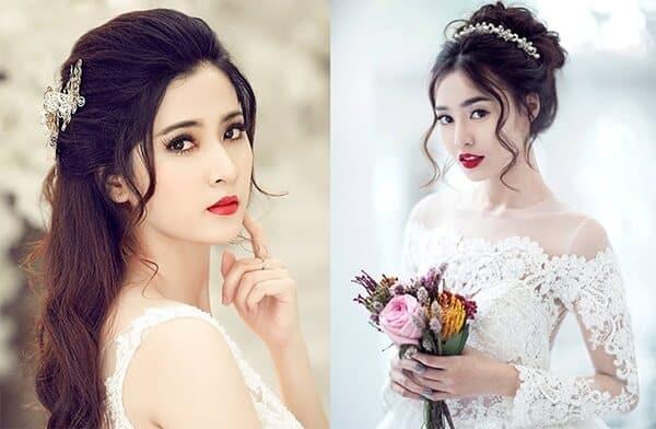 Tóc giả đẹp tự nhiên cho cô dâu